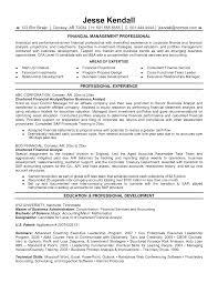 Resume Sample Finance by Resume Corporate Finance Resume