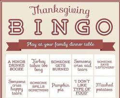 thanksgiving bingo cards thanksgiving holidays and