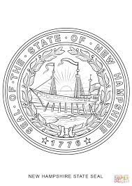 State Flag Of Massachusetts New Hampshire State Seal Coloring Page Free Printable Coloring Pages