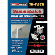Seismolatch Automatic Cabinet Door Earthquake Latches 10 Pack