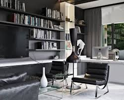 3d rendering interior design of a stylish home office archicgi