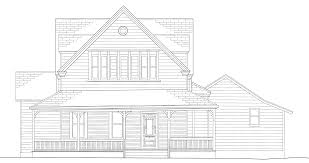 file north elevation charles goodnight ranch house drawing png