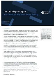 Challenge Harmful Policy Brief The Challenge Of Spam Society
