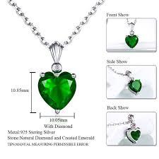 sapphire emerald necklace images Double r 925 sterling silver emerald necklace sapphire pendant jpg