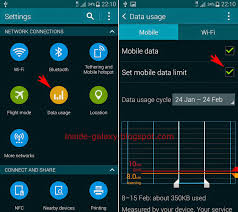 android data usage samsung galaxy s5 how to set mobile data usage limit in android