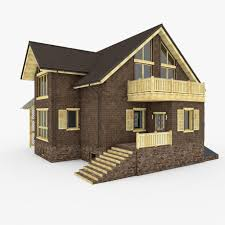 Native House Design by Modern Brick House 3d Model Cgstudio