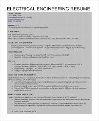resume exle for electrical engineering resume template 6 free word pdf document
