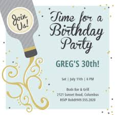 free printable 30th birthday invitation templates greetings island