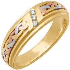 wedding ring depot 09ct tcw 18k tri color gold braid band 6mm 3003829 shop