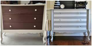 Dark Brown Changing Table by Sophia U0027s Paris Grey U0026 White Striped Dresser
