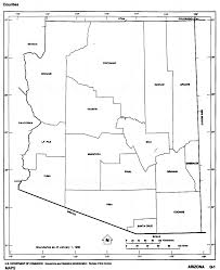 Blank Electoral Map by Arizona Outline Maps And Map Links
