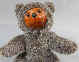 wooden faced teddy bears raikes etsy