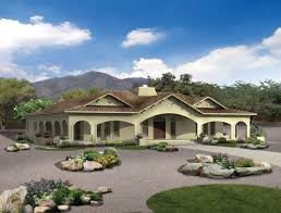 Spanish Revival House Plans by Four Bedroom In Spanish Revival Style Home And Garden