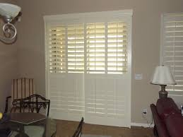 Sliding Shutters For Patio Doors Plantation Shutters On Sliding Glass Doors Traditional Living
