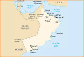 middle east map gulf of oman kanoo shipping
