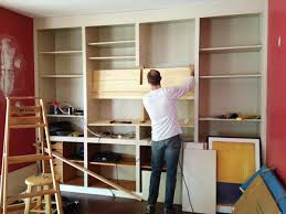 How To Build A Built In Bookcase Into A Wall The Built In Bookcase Cut Out Customization Rather Square