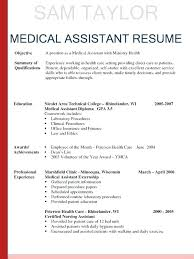 resume templates for medical assistants resume templates medical assistant exles of soaringeaglecasino us