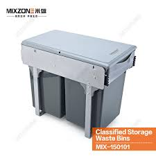 Kitchen Cabinet Trash Bin by 2017 Kitchen Cabinet Pull Out Double Classified Pp Trash Bins
