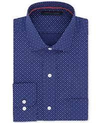tommy hilfiger men u0027s classic fit non iron blue dot print cotton