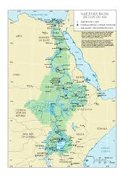 nile river on map map of the nile river basin