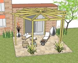 Attached Pergola Plans by An Attached Lean To Pergola Entry Pergola Pergola Porch Or