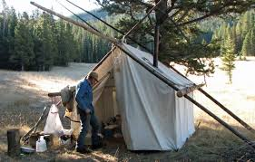 Permanent Tent Cabins Canvas Tents Have Allure That U0027s Expanded Beyond Hunting Outdoors