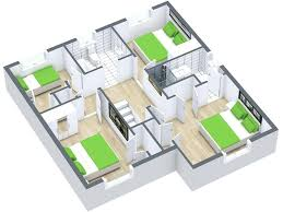 free and simple 3d floorplanner 3d floor plans 3 bedroom house floor plan 3d floor planner