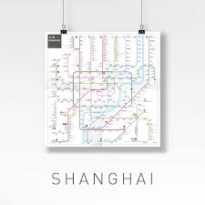 Shanghai Metro Map by Inat Metro Mapping Standard Jug Cerovic Architect