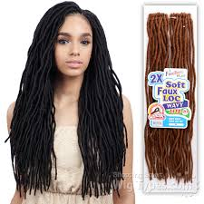 types of freetress braid hair freetress synthetic braid 2x soft wavy faux loc 20 24pcs