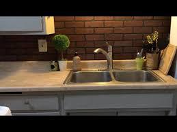 faux brick kitchen backsplash faux brick backsplash diy backsplash easy kitchen makeover