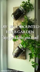 how to make an indoor wall mounted herb garden to enjoy fresh