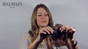 balmain hair balmain hair clip in fringe how to apply yourself