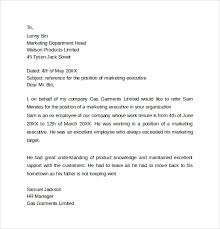 personal reference letter template 12 samples examples u0026 formats