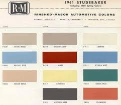 1961 studebaker color sample chips card oem colors beds