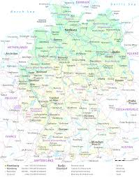 Map Of France With Major Cities by Map Of Germany With Major Cities Evenakliyat Biz