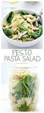pesto pasta salad crunchy creamy sweet