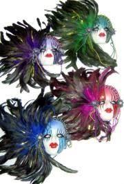 ceramic mardi gras masks 14in x 12 3 4in assorted decorative color porcelain mask