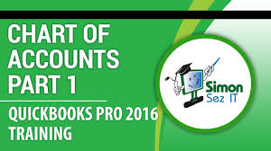 quickbooks pro 2016 tutorial setting up the chart of accounts