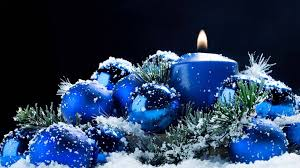 blue christmas candle romantic and relaxing youtube