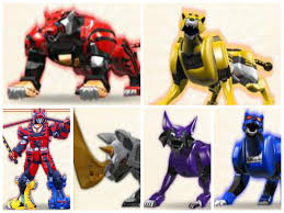 jungle fury zords power rangers collages