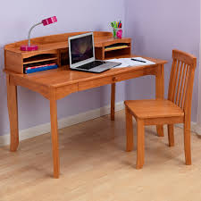 brown wooden study table with racks and drawer added by brown