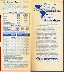 Piedmont Airlines Route Map by Airline Timetables Eastern Airlines June 1983