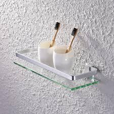 amazon co uk shower organiser home kitchen kes bathroom shelf glass shelf rectangular aluminum 1 tier basket shower organizer wall mounted silver sand sprayed a4126a