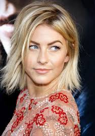 julia hough new haircut celebrity layered messy bob hairstyle for women from julianne