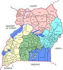 Map Of Uganda Pink Green Blue Uganda Map Jpg Jaime On The Road