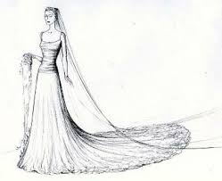 wedding gown sketches with train other dresses dressesss