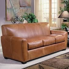 sleeper sofa leather genuine leather sleeper sofa new in apartement ideas