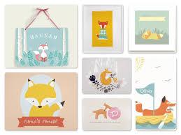 fox theme party planning ideas decor supplies birthday fox wall art greeting cards journals woodland fox room decor