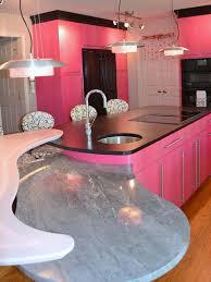 pink kitchen ideas deluxe kitchen apartmen idea with wooden flooring and pink kitchen