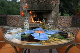 Patio Glass Table Stained Glass Patio Tables Patio San Diego